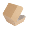 Hamburger-Box 'thepack' naturbraun 220 Gr. : Events, catering