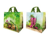 Shopper Einkaufstasche 33L PP bedruckt 'Gartenkunst' : Ladentaschen einkaufstaschen modetaschen