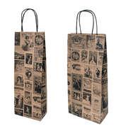 Papiertasche 'Bacchus' für 1/2 Flaschen : Verpackung fur flaschen und regionalprodukte