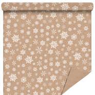 Rolle Geschenkpapier Kraft 'Schneeflocken' : Verpackungzubehör