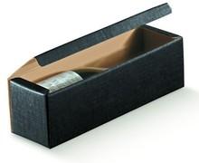 Flaschenkarton 1-Flasche schwarz 'Milano' : Verpackung fur flaschen und regionalprodukte