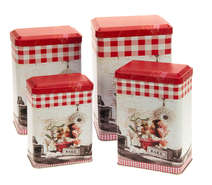 4 Metallboxen VINTAGE : Geschenkschachtel präsentbox