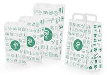 Papiertüten m. Flachgriffen uni bzw. Apothenkendruck : Verpackung für bäkerei konditorei