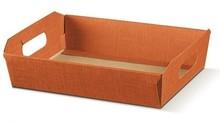 Geschenkkorb Pappe viereckig orange : Korb geschenkkorb