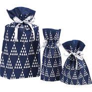 Geschenk-Säckchen Satin blau-weiß : Verpackung für bäkerei konditorei