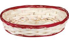 Präsentierungsschale ovale Flechtbambus hell : Korb geschenkkorb präsentierungskorb