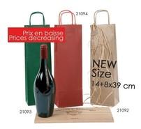 Flaschentasche Kraft gerippt 1-Flasche : Verpackung fur flaschen und regionalprodukte