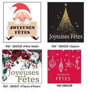 Etikett beschriftet 'Joyeuses Fêtes' : Verpackungzubehör