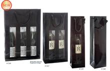 Geschenktasche 1/2/3-Flaschen schwarz Glanzlack : Verpackung fur flaschen und regionalprodukte