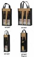 Vliestasche für 1/2/3/Magnum Flaschen m. Fenster : Verpackung fur flaschen und regionalprodukte