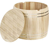Coffret bois grand tonneau : Verpackung fur flaschen und regionalprodukte