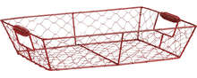 Corbeille métal rouge : Korb geschenkkorb präsentierungskorb