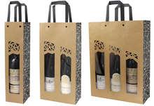 Sac kraft bouteille + fenêtre AUTHENTIQUE : Verpackung fur flaschen und regionalprodukte