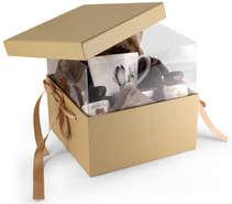 Lot de 2 Boites Pandore Luxe - Fenêtre intégrée + ruban : Geschenkschachtel präsentbox