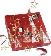 Calendrier de l'Avent rouge 24 cases : Geschenkschachtel präsentbox