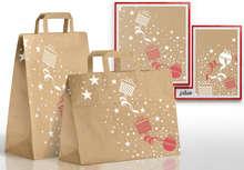 Sacs kraft brun recyclé Noël : Ladentaschen einkaufstaschen modetaschen