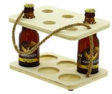 Serviteur 6 bières peuplier et corde  : Verpackung fur flaschen und regionalprodukte