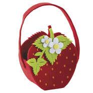 Panier fraise en feutrine  : Verpackung für feste