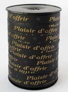 Geschenkband schwarz 'plaisir d'offrir' : Verpackungzubehör