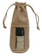 Geschenktasche Jute 1-Flasche m. Fenster : Verpackung fur flaschen und regionalprodukte