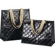 Sac isotherme rectangle noir  : Ladentaschen einkaufstaschen modetaschen