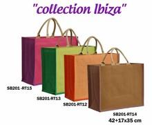 Shopper Jute IBIZA zweifarbig  42xB.17xH.35 cm : Ladentaschen einkaufstaschen