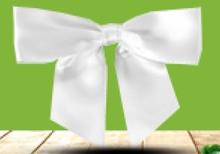 Ruban Noeud Satin Blanc  : Verpackungzubehör