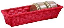 Präsentierungskorb rechteckig Spaltweide rot : Korb geschenkkorb präsentierungskorb