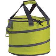 Isotasche Tragetasche grau/grün rund mit Flaschenöffner : Ladentaschen einkaufstaschen modetaschen