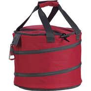 Isotasche Tragetasche grau/rot rund mit Flaschenöffner : Ladentaschen einkaufstaschen modetaschen