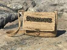 Modetasche Handtasche aus Jute Joan Rich 'Edel' : Ladentaschen einkaufstaschen modetaschen