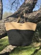 Modetasche Tragetasche Joan Rich 'Strand' : Ladentaschen einkaufstaschen modetaschen