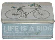 Metallbox 4-eckig 'BICYCLE' : Geschenkschachtel präsentbox