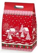 Geschenkschachtel 4eckig rot mit ausgeschnittenem Griff : Geschenkschachtel präsentbox