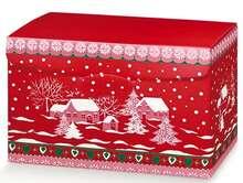 Geschenkschachtel 4eckig rot : Geschenkschachtel präsentbox