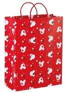 Geschenktüte geprägte Pappe Mickey Mouse rot : Ladentaschen einkaufstaschen modetaschen
