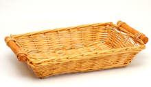 Weidenkorb m. Holzgriffen honigfarbig : Korb geschenkkorb präsentierungskorb