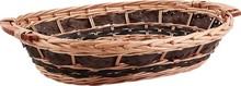 Weidenkorb oval hell/braun m. Griffen : Korb geschenkkorb präsentierungskorb