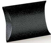 Geschenktasche Pappe schwarz Blockform : Geschenkschachtel präsentbox