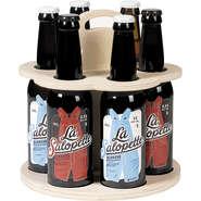 Bierträger Holz 6-Flaschen langhalsig :