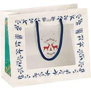 Geschenktasche Pappe m. Fenster 'Winter' : Ladentaschen einkaufstaschen modetaschen