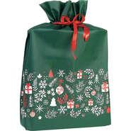Vliessäckchen PP grün/ weiss/ rot mit Schleife : Verpackung für bäkerei konditorei