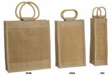 Geschenktasche Jute braun 1/2/3 Flaschen m Rattangriffen : Verpackung fur flaschen und regionalprodukte