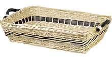 Weidenkorb 4eckig helle Weide mit Holzgriffen : Korb geschenkkorb präsentierungskorb