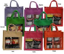 Geschenktasche Jute für Gläser : Ladentaschen einkaufstaschen modetaschen