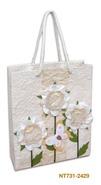 Geschenktasche Handkraft weisse Blumen : Ladentaschen einkaufstaschen modetaschen