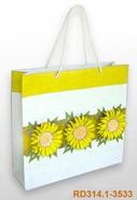 Papiertasche Handkraft Sonnenblumen : Ladentaschen einkaufstaschen modetaschen