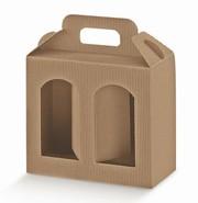 Geschenkschachtel Wellpappe 2-Gläser H.15 cm : Verpackung für einmachgläser konfitürenglas preserve