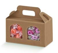 Geschenkschachtel Wellpappe 2 Gefässe H.9 cm : Verpackung für einmachgläser konfitürenglas preserve