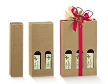 Geschenkkarton 1/2/3 Flaschen 25 cl H. 21,5 cm : Verpackung fur flaschen und regionalprodukte